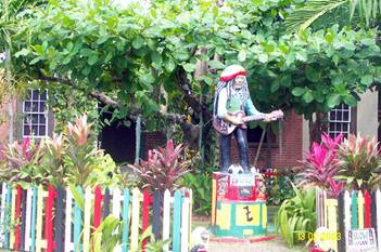 Jamaicans welcome at the Bob Marley Museum