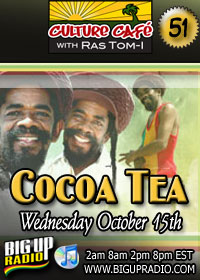 Culture Cafe 51 features reggae sensation Cocoa Tea Oct 15th