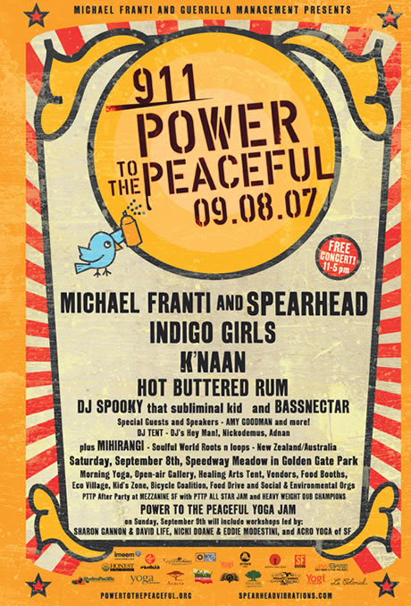 911 Power to the Peaceful Festival on Sept 8th