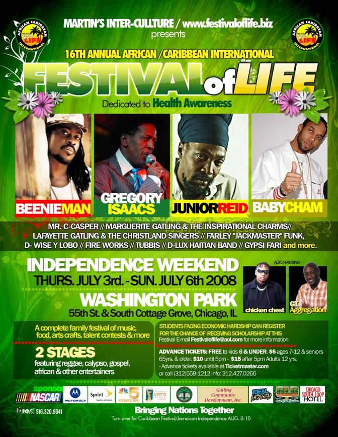 Reggae Top Stars at the 16th FEST OF LIFE