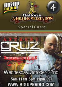 Higher Meditation 3 features reggae star Anthony Cruz October 22nd