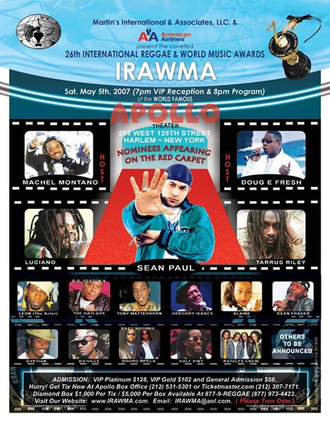 Da'ville To Walk The Red Carpet at the IRAWMA