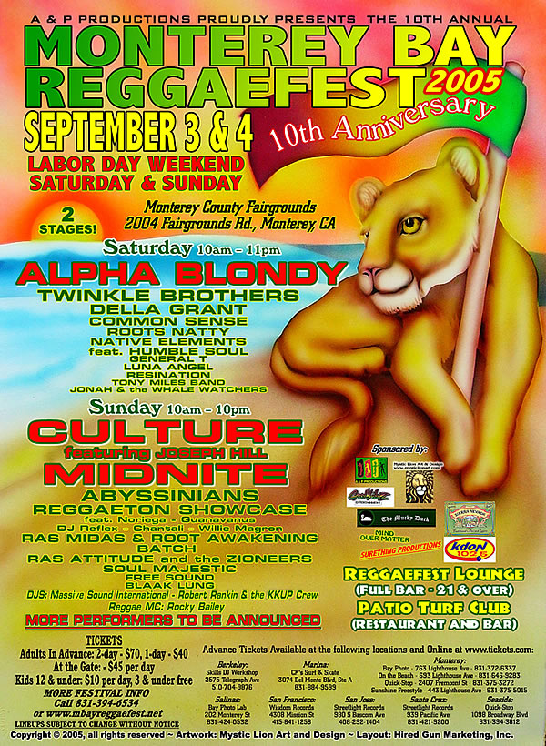 10th Annual Monterey Bay Reggae Fest Boasts a Stellar Lineup of Artists from Around the World