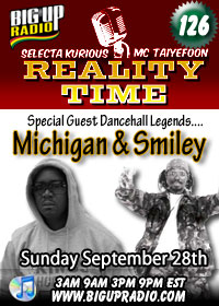 Reality Time 126 features Michigan and Smiley this Sunday