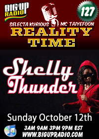Reality Time 127 features Shelly Thunder Sunday October 12th
