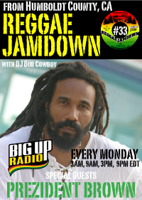 Prezident Brown exclusive interview on this weeks Reggae Jamdown