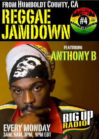 Reggae Jamdown 4 features the one and only Anthony B on Monday Nov 3rd