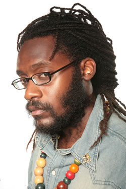 Tarrus Riley Shows His Lion Paw
