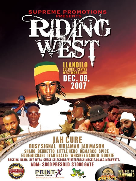 Supreme Promotions is Riding West with Jah Cure on Dec. 8th