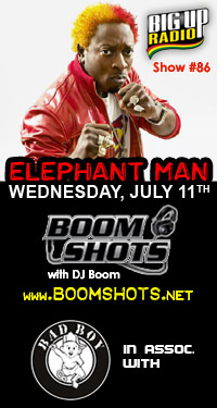 BOOM SHOTS #86 featuring the 'Engergy God' Elephant Man