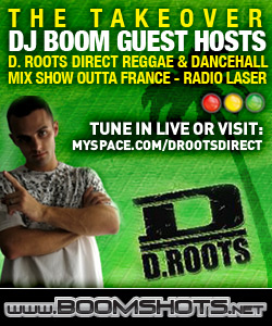 DJ Boom Guest Hosts D Roots Direct