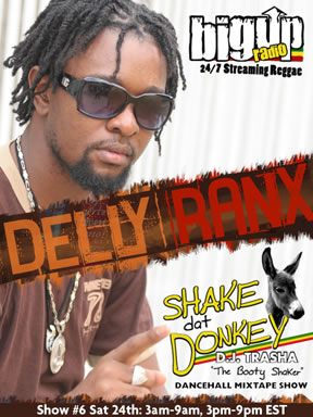 Delly Ranx guest stars on the Shake Dat Donkey Dancehall Mixtape Show
