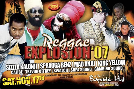 Reggae Explosion 2007 comes to Miami November 17th