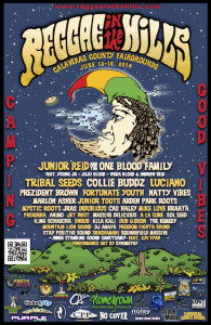 Reggae in the Hills 2014 line-up and sponsors